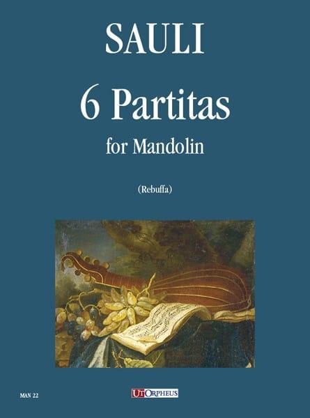6 Partitas - Mandoline - Filippo Sauli - Partition - laflutedepan.com