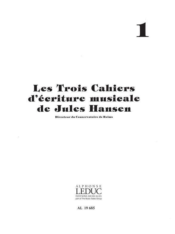 3 Cahiers d'écriture musicale - Volume 1 - laflutedepan.com