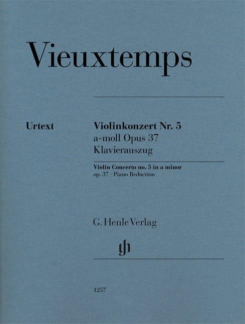 Henri Vieuxtemps - Violin Concerto No. 5, op. 37 - Violin and piano - Partition - di-arezzo.com