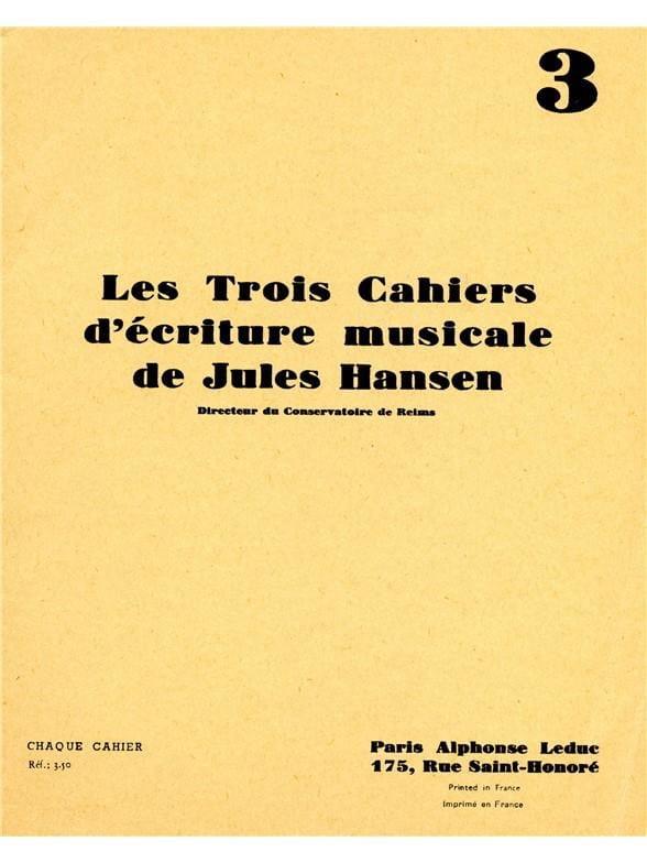 3 Cahiers d'écriture musicale - Volume 3 - laflutedepan.com