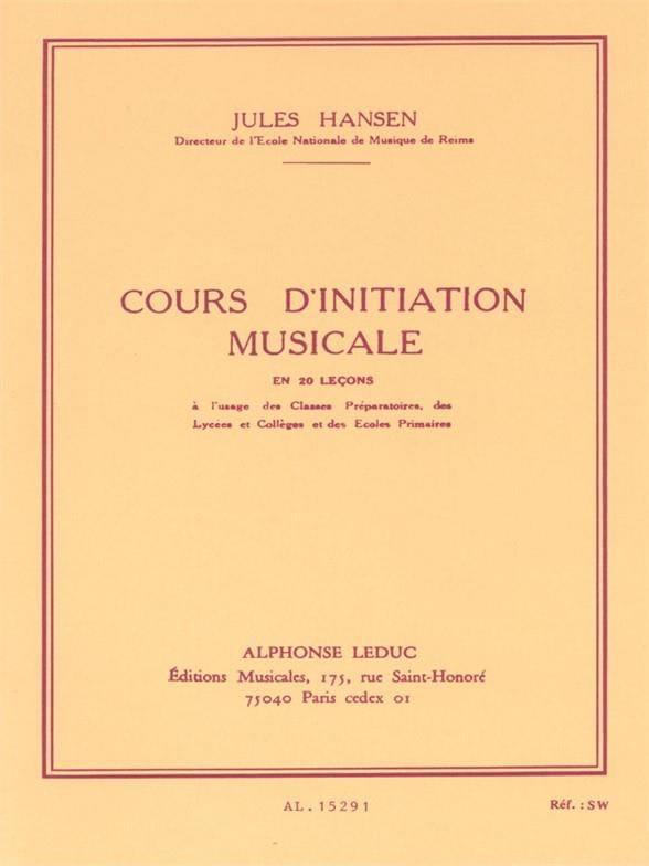 Jules Hansen - Music initiation course - Partition - di-arezzo.com