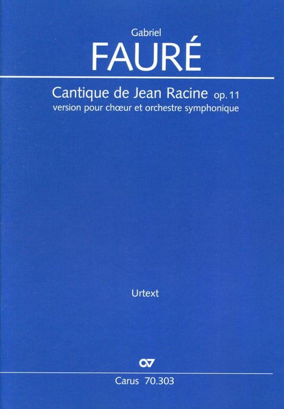 Gabriel Fauré - Song of Jean Racine, op. 11 - Driver - Partition - di-arezzo.com