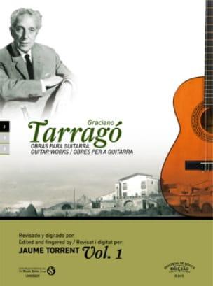 Oeuvres pour guitare vol. 1 - Graciano Tarrago - laflutedepan.com