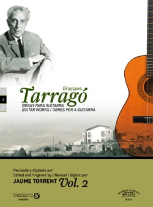 Oeuvres pour guitare vol. 2 - Graciano Tarrago - laflutedepan.com