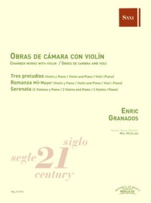 Musique de chambre avec violon - GRANADOS - laflutedepan.com