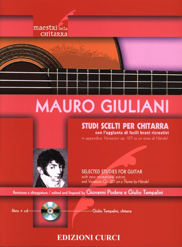 Mauro Giuliani - Studi scelti - Guitar - Partition - di-arezzo.co.uk
