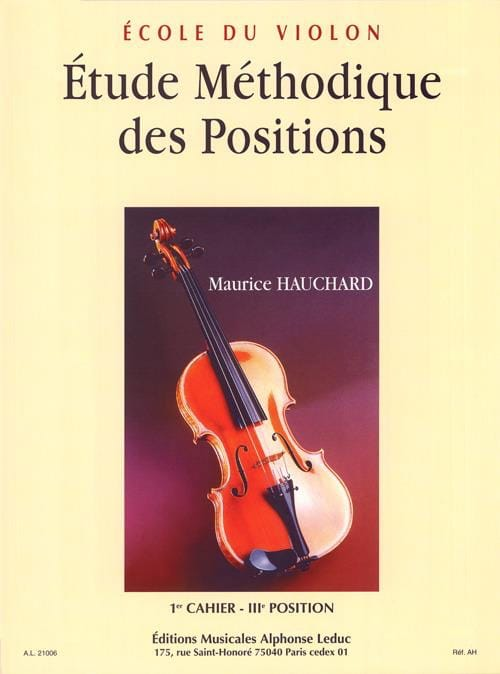 Maurice Hauchard - Etude des Positions Volume 1 - Partition - di-arezzo.fr