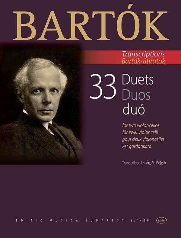 BARTOK - 33 dúos - 2 violoncelos - Partition - di-arezzo.es