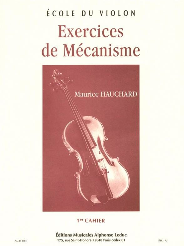Maurice Hauchard - Volume 1 Mechanism Exercises - Partition - di-arezzo.co.uk