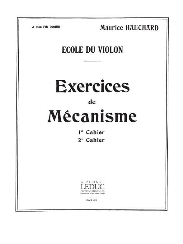 Maurice Hauchard - Volume 2 Mechanism Exercises - Partition - di-arezzo.co.uk