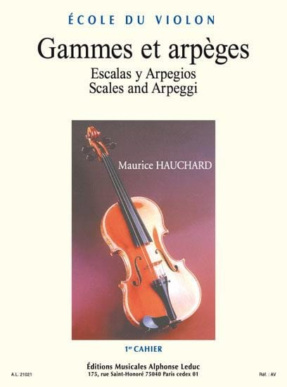 Maurice Hauchard - Ranges and Arpeggios Volume 1 - Partition - di-arezzo.co.uk