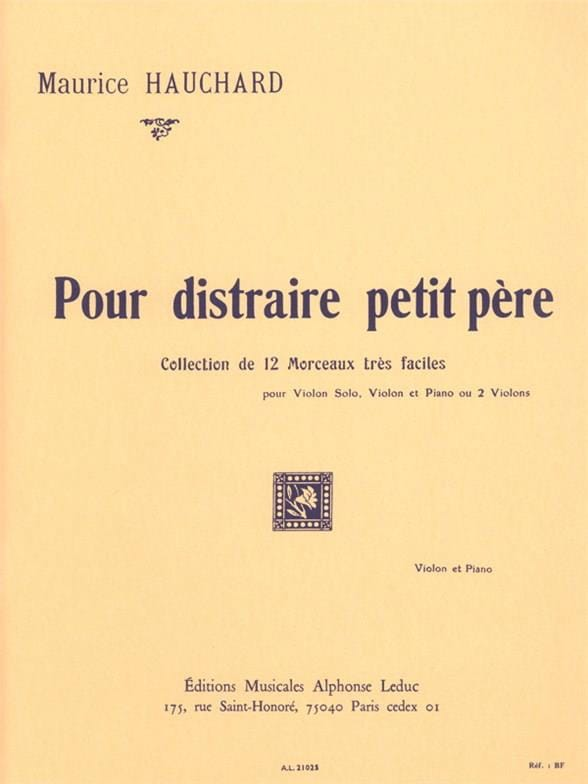 Maurice Hauchard - Para distraer al pequeño padre - Partition - di-arezzo.es