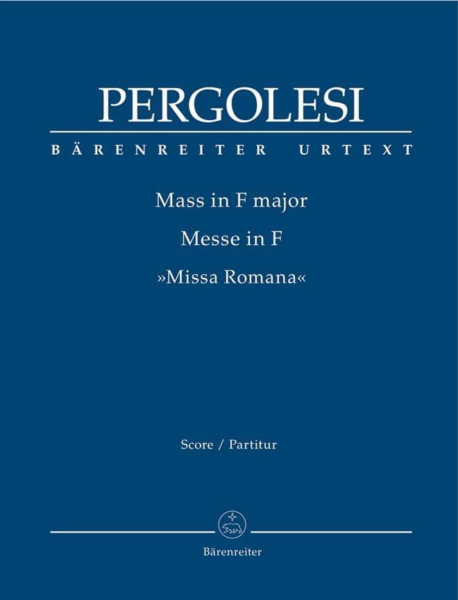 Giovanni Battista Pergolesi - Mass in F Major - Driver - Partition - di-arezzo.co.uk