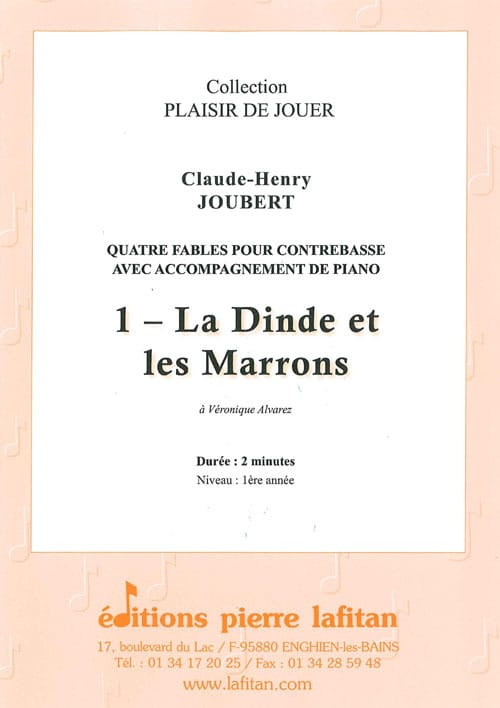 Claude-Henry Joubert - Turkey and Chestnuts - Double bass and piano - Partition - di-arezzo.com