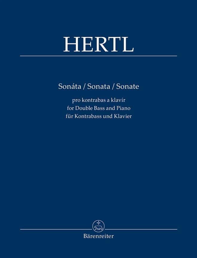 Sonate - Contrebasse et piano - Frantisek Hertl - laflutedepan.com