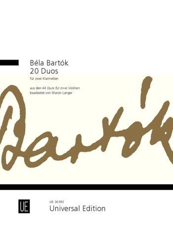 BARTOK - 20 dúos - 2 clarinetes - Partition - di-arezzo.es