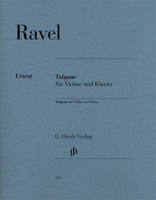 Maurice Ravel - Gypsy - Violin and piano - Partition - di-arezzo.co.uk
