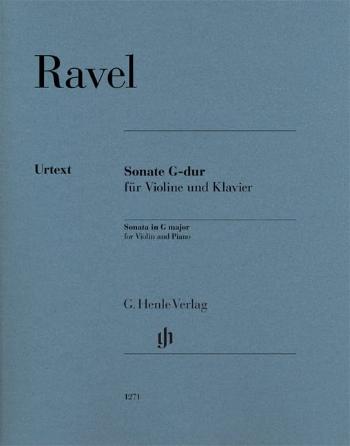 Maurice Ravel - Sonata in G Major - Violin and piano - Partition - di-arezzo.co.uk