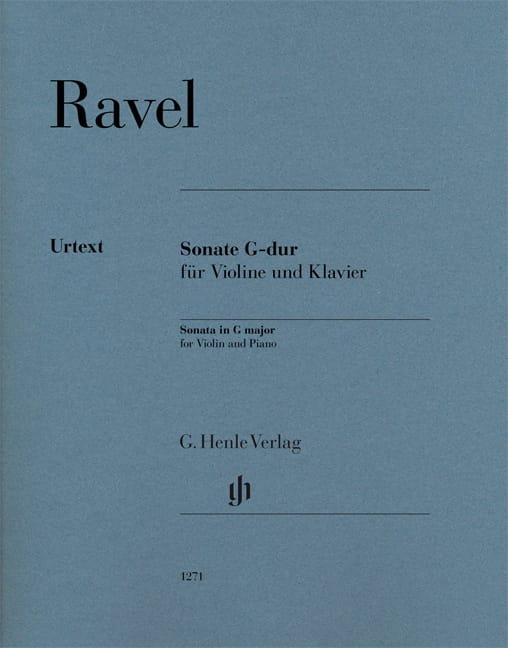 Maurice Ravel - Sonata en Sol mayor - Violín y piano - Partition - di-arezzo.es