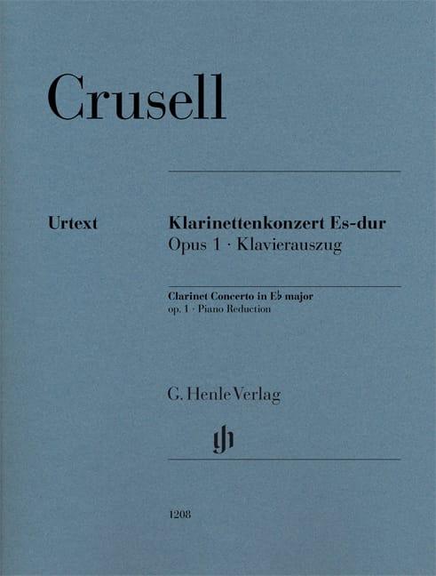 Bernhard Henrik Crusell - Concierto en Eb major, op. 1 - Clarinete y piano - Partition - di-arezzo.es