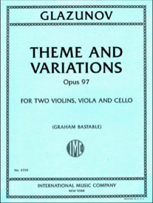 Alexandre Glazounov - Theme and Variations, op. 97 - String Quartet - Partition - di-arezzo.co.uk