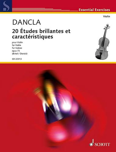 DANCLA - 20 Brilliant Studies and Features, op. 73 - Violín - Partition - di-arezzo.es