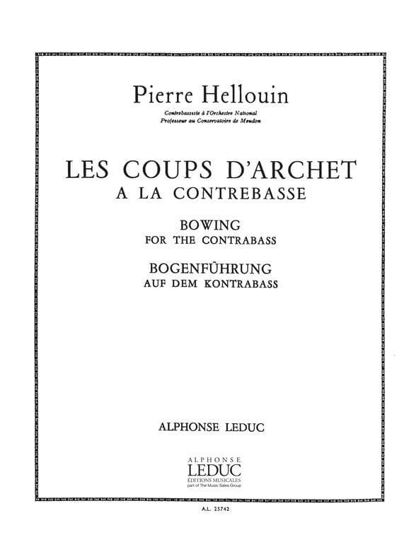 Coups d'archet à la contrebasse - Pierre Hellouin - laflutedepan.com