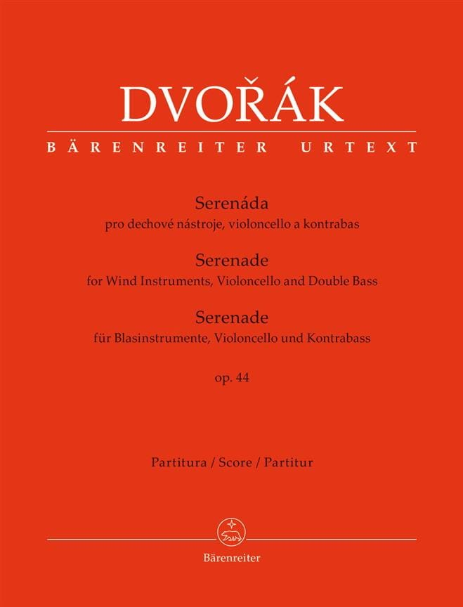 DVORAK - Serenade, opus 44 - Conductor - Partition - di-arezzo.co.uk