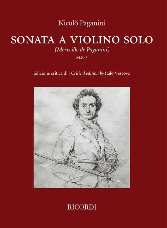 Niccolò Paganini - Sonata a violino solo - Violin - Partition - di-arezzo.co.uk