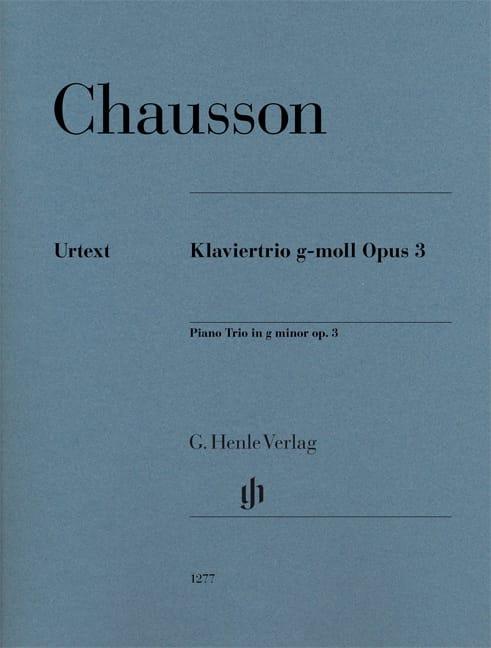 Trio en sol mineur, opus 3 - Violon, violoncelle et piano - laflutedepan.com
