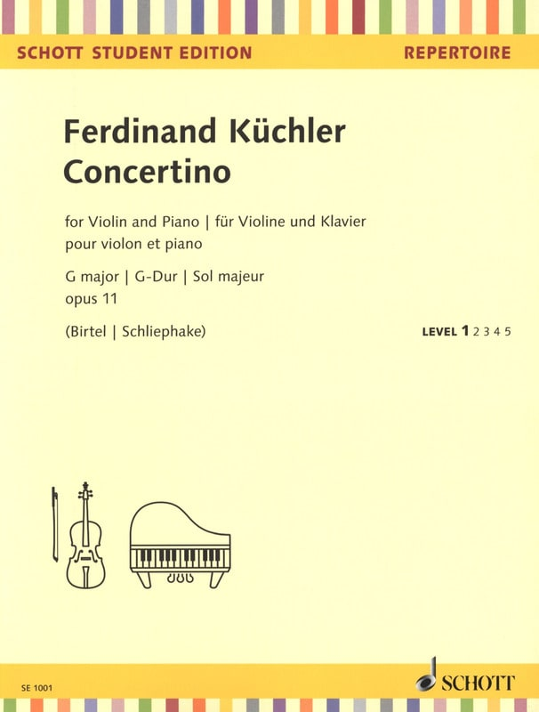 Ferdinand Küchler - Concertino in G Major、Opus 11 - ヴァイオリンとピアノ - Partition - di-arezzo.jp