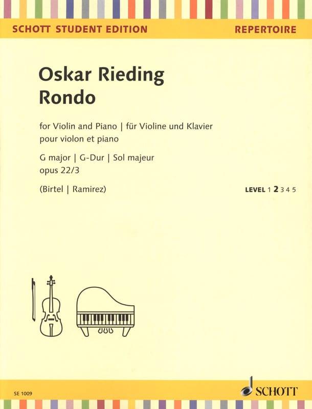 Rondo en Sol Majeur, op. 22 n° 3 - Violon et piano - laflutedepan.com