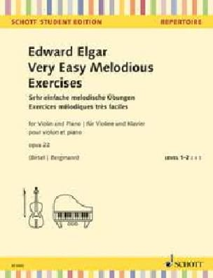 ELGAR - Very Easy Melodious Exercises, op. 22 - Violin and piano - Partition - di-arezzo.co.uk