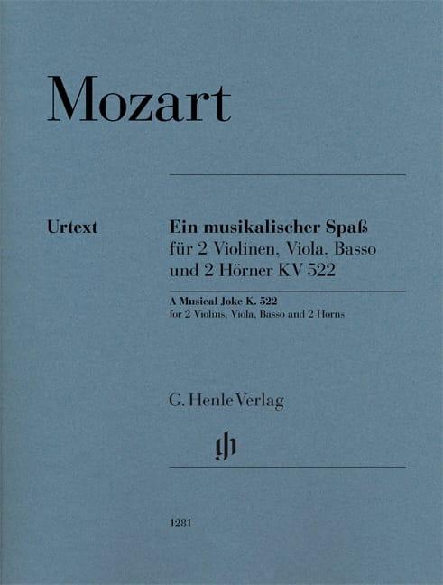 Ein Musikalischer Spass, Kv 522 - Sextuor - MOZART - laflutedepan.com