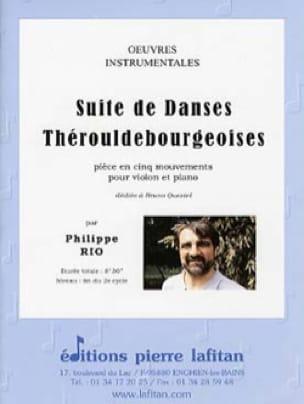 Suite de danses Thérouldebourgeoises - Philippe Rio - laflutedepan.com