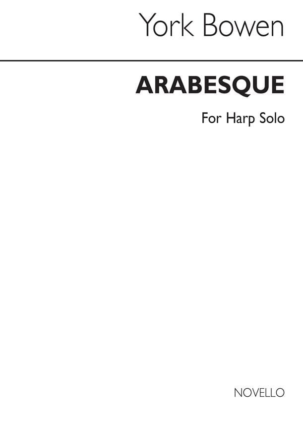 Arabesques - Edwin York Bowen - Partition - Harpe - laflutedepan.com