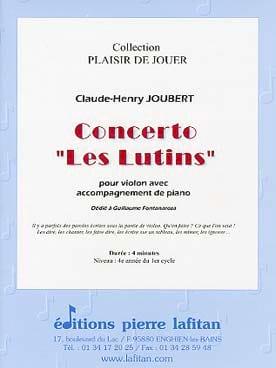 Claude-Henry Joubert - Concerto The elves - Partition - di-arezzo.co.uk