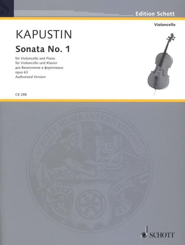 Sonate N° 1, opus 63 - Nikolai Kapustin - Partition - laflutedepan.com