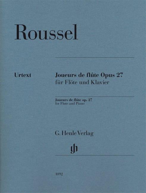 Joueurs de flûte opus 27 pour flûte et piano - Urtext - laflutedepan.com