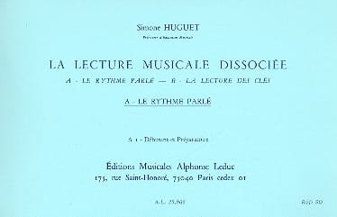 Simone Huguet - Dissociated music playback - A1 - Deb. prep. - Partition - di-arezzo.com
