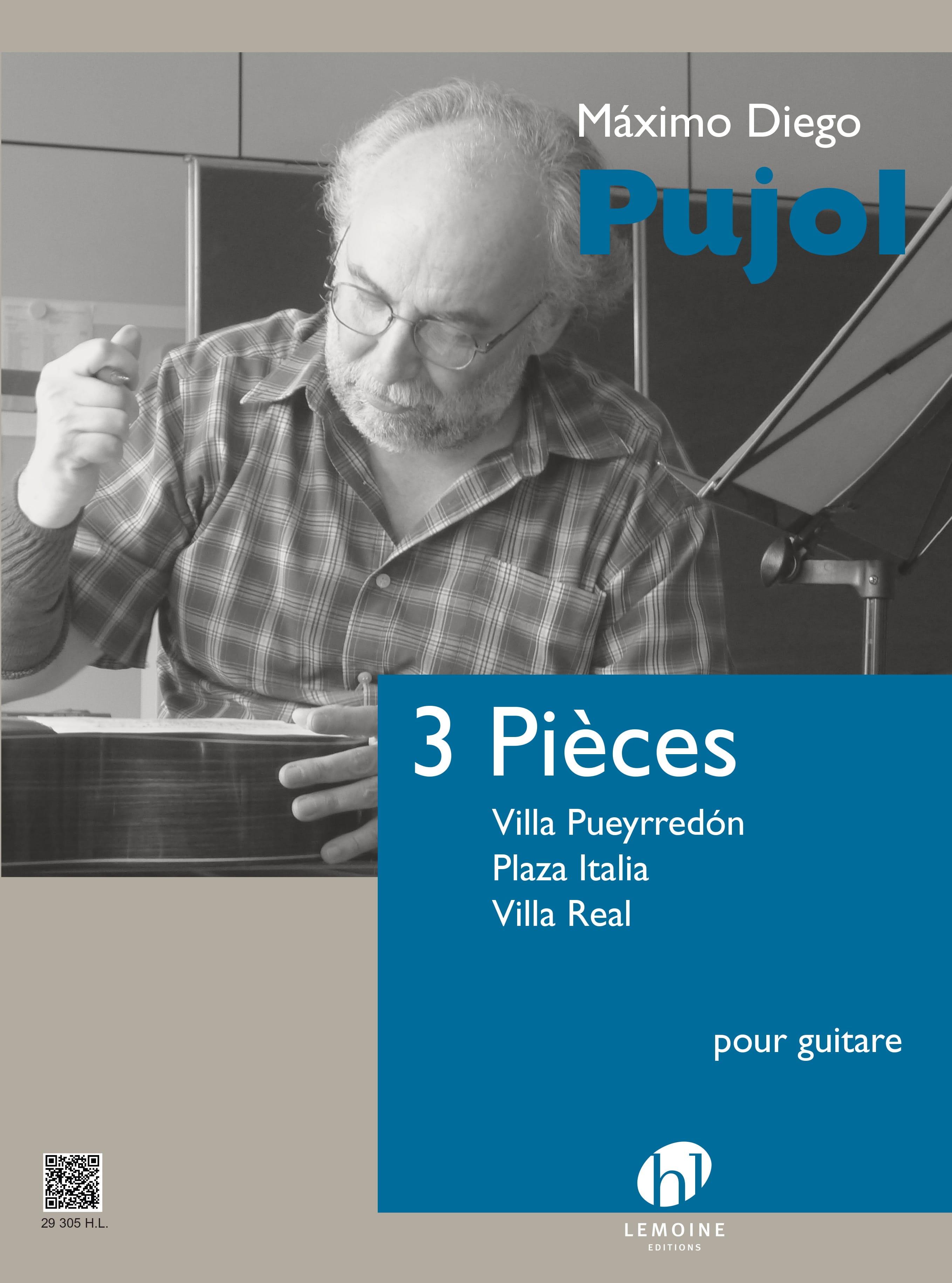 3 Pièces pour guitare - Maximo Diego Pujol - laflutedepan.com