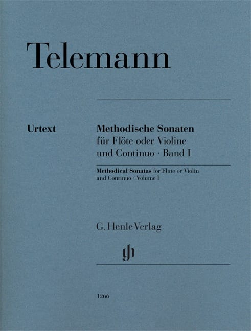 TELEMANN - Methodical sonatas for flute or violin and continuo, volume I - Partition - di-arezzo.co.uk