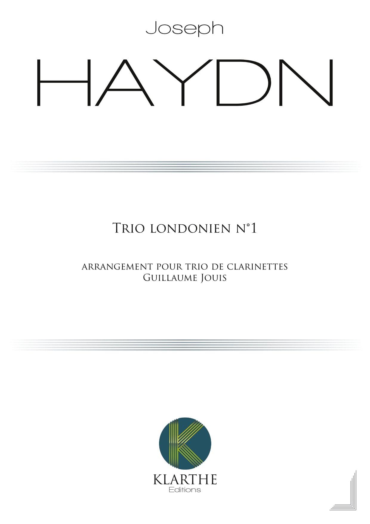 Trio n° 1 - 3 Clarinettes - HAYDN - Partition - laflutedepan.com