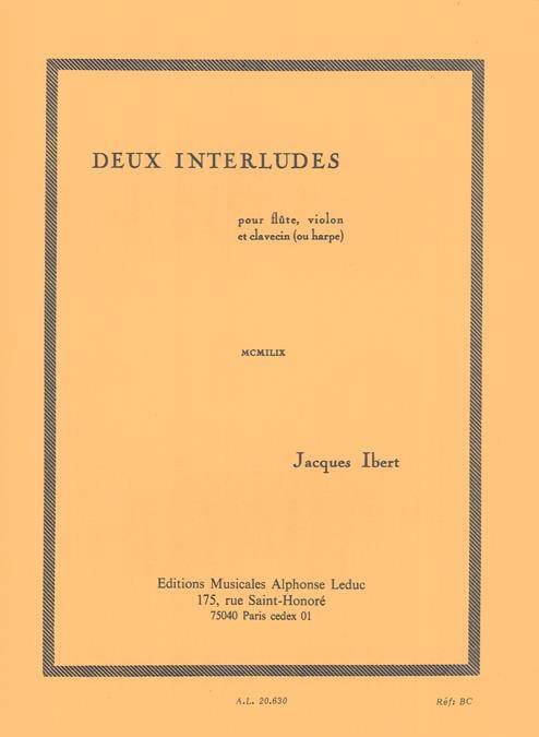 2 Interludes - IBERT - Partition - Trios - laflutedepan.com