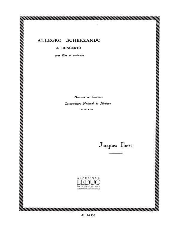 Jacques Ibert - Allegro Scherzando - Partition - di-arezzo.com