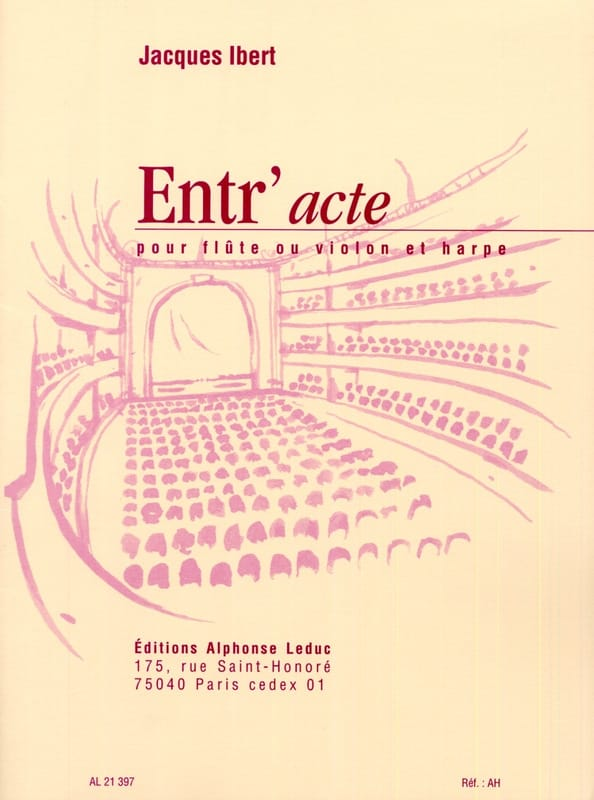 Jacques Ibert - Entr'acte - Flute harp - Partition - di-arezzo.co.uk