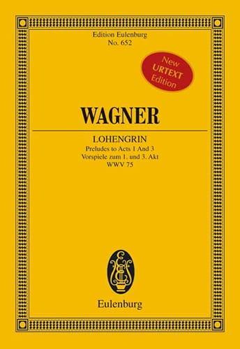 Richard Wagner - Lohengrin Wwv 75, Preludios Hechos 1/3 - Partition - di-arezzo.es