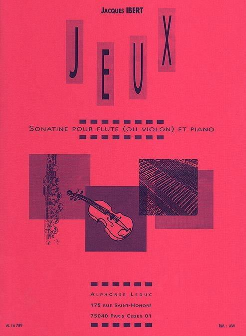 Jacques Ibert - Games - Piano violin flute - Partition - di-arezzo.com