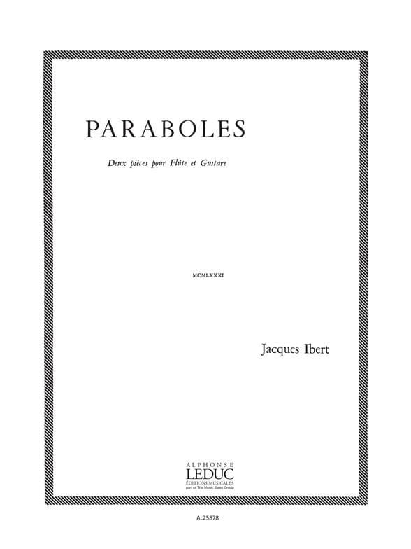 Jacques Ibert - Parabolas - Flute - Partition - di-arezzo.co.uk