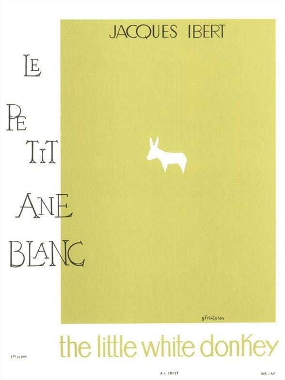 Jacques Ibert - The little white donkey - Flute - Partition - di-arezzo.co.uk